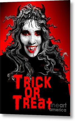 Trick Or Treat Metal Print by Carol Jacobs