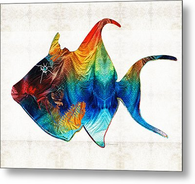Trigger Happy Fish Art By Sharon Cummings Metal Print