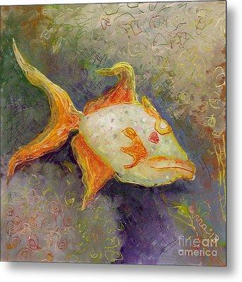Triggerfish Metal Print by Anna Skaradzinska