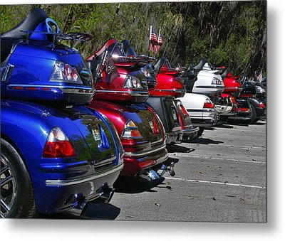 Trike - Parade Metal Print by Christine Till