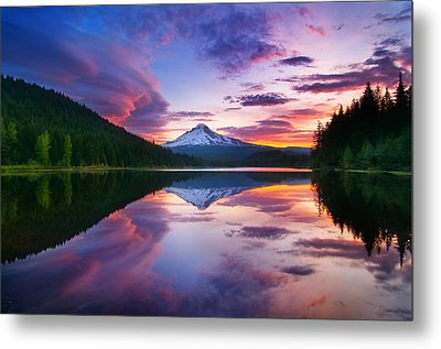 Trillium Lake Sunrise Metal Print