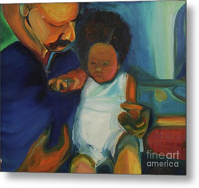 Metal Print featuring the painting Trina Baby by Daun Soden-Greene
