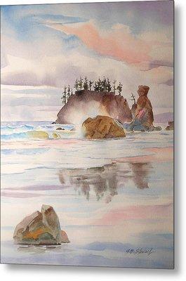 Trinidad Rocks Metal Print by John Norman Stewart