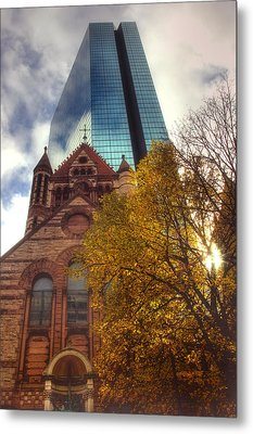 Trinity And The Hancock Metal Print by Joann Vitali
