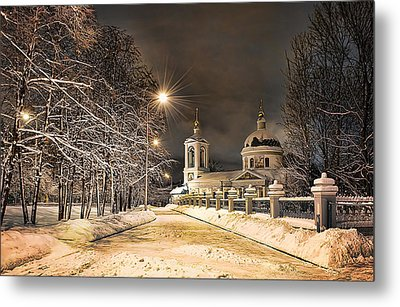 Metal Print featuring the photograph Trinity Church by Gouzel -