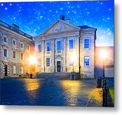 Trinity College Dining Hall At Night Metal Print by Mark E Tisdale