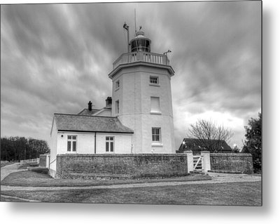 Trinity House Lighthouse Bw Metal Print by David French