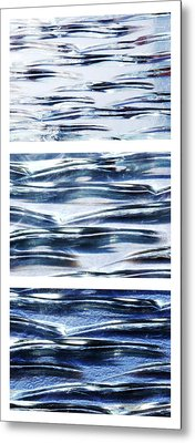 Metal Print featuring the photograph Trio In Blue by Wendy Wilton