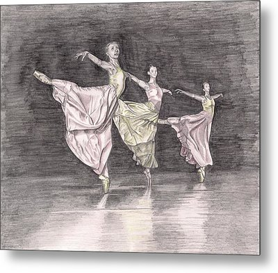 Trio Of Grace Metal Print by Beverly Marshall