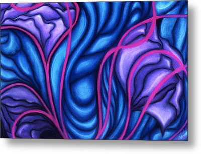 Metal Print featuring the pastel Trio by Susan Will