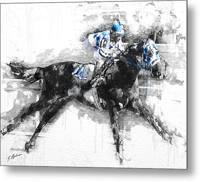 Secretariat Triple Crown 73 Metal Print by Gary Bodnar