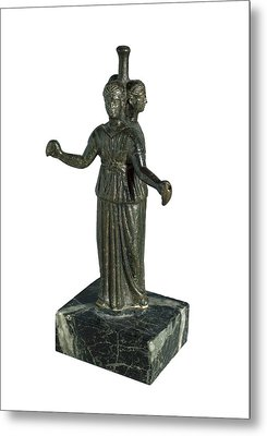 Triple Form Of Hecate Around A Column Metal Print