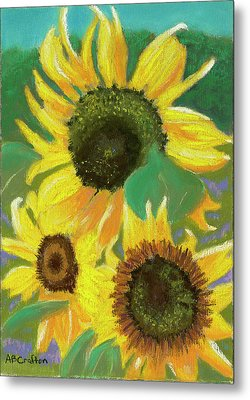 Metal Print featuring the painting Triple Gold by Arlene Crafton