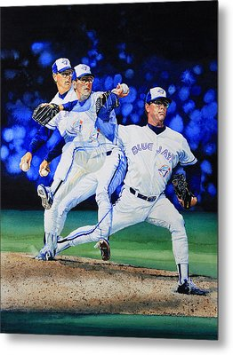 Triple Play Metal Print