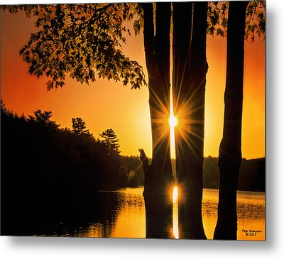 Triple Sunburst Morning Metal Print