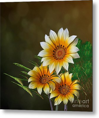 Triple Sunshine Metal Print by Shirley Mangini