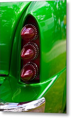 Metal Print featuring the photograph Triple Vertical Tail Lights by Mick Flynn