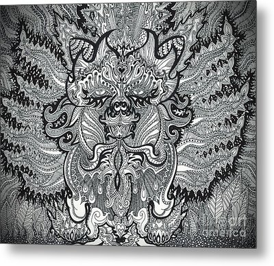 Trippy Kitty Metal Print