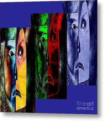 Triptychon Paerchen II - Triptych Couple II Metal Print by Mojo Mendiola