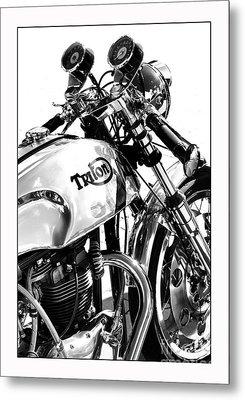 Triton Motorcycle Metal Print by Tim Gainey