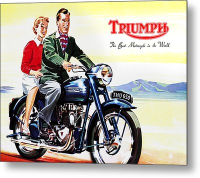 Triumph 1953 Metal Print by Mark Rogan
