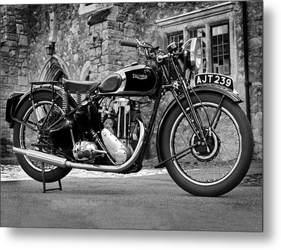 Triumph De Luxe 1939 Metal Print by Mark Rogan