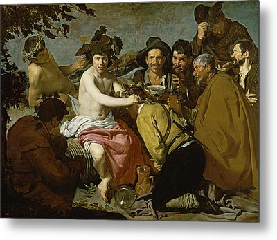 Triumph Of Bacchus, 1628 Oil On Canvas Metal Print
