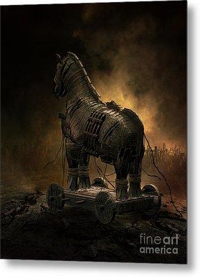 Trojan Horse Metal Print by Shanina Conway