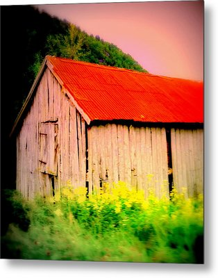 The Walls May Fall Down But Nothing Wrong Will Ever Happen Under My New Red Roof  Metal Print