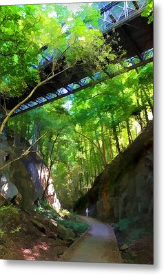 Trolley Trail #9 - Under Westchester Avenue Metal Print