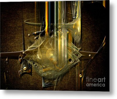Metal Print featuring the digital art Trombone Machine by Alexa Szlavics