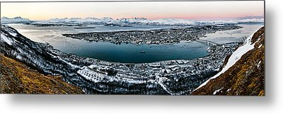 Tromso From The Mountains Metal Print by Dave Bowman
