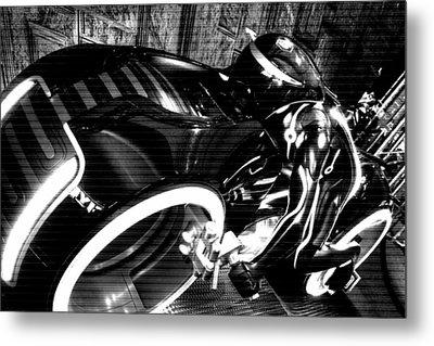 Tron Motor Cycle Metal Print by Michael Hope
