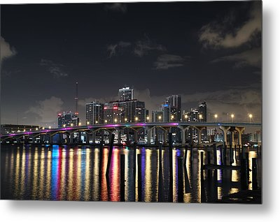 Trooper Bridge Miami Metal Print