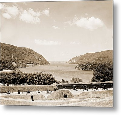 Trophy Point North Fro West Point In Sepia Tone Metal Print