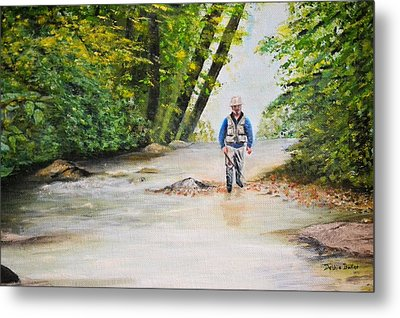 Metal Print featuring the painting Trophy Stream by Debbie Baker