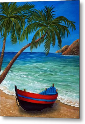 Tropical Beach Metal Print by Katia Aho