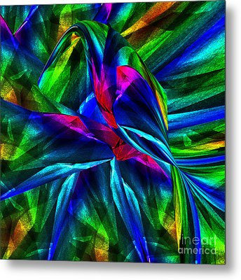 Tropical Bird Sits On A Tropical Tree Metal Print