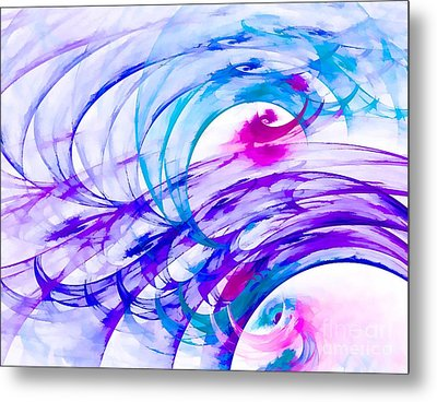 Tropical Breeze Metal Print by Peggy Hughes