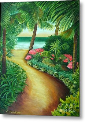 Metal Print featuring the painting Tropical Breezes by Shelia Kempf