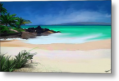 Tropical Charm Metal Print by Anthony Fishburne