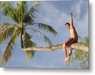 Metal Print featuring the photograph Tropical Climb by Paul Miller
