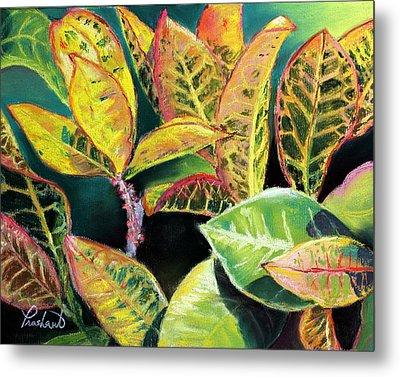 Tropical Colorful Croton Leaves Metal Print by Prashant Shah