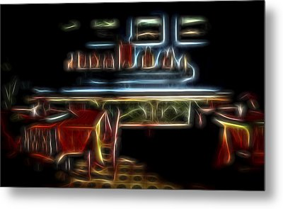 Metal Print featuring the digital art Tropical Dining Room 1 by William Horden