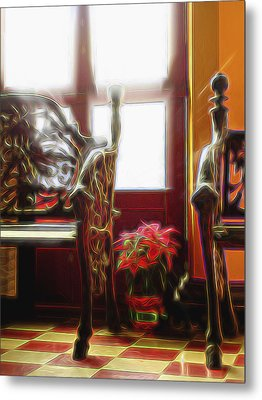 Metal Print featuring the digital art Tropical Drawing Room 1 by William Horden