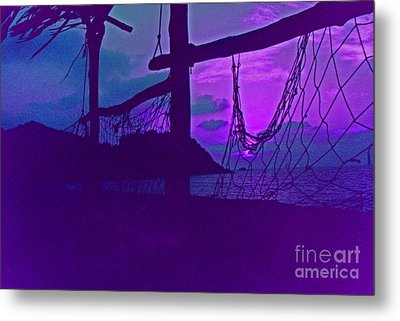Tropical Dusk Metal Print by First Star Art