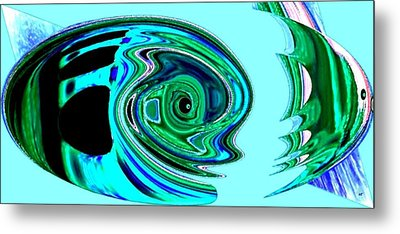 Tropical Fish Abstract Metal Print