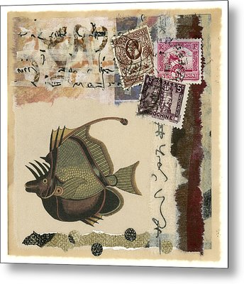 Tropical Fish Collage Metal Print by Carol Leigh