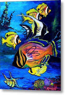 Tropical Fish Metal Print by Karon Melillo DeVega