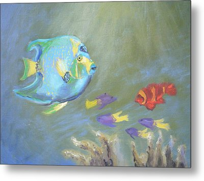Tropical Fish Metal Print by Patricia Kimsey Bollinger